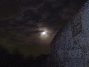 The moon over Thetford Priory, Norfolk