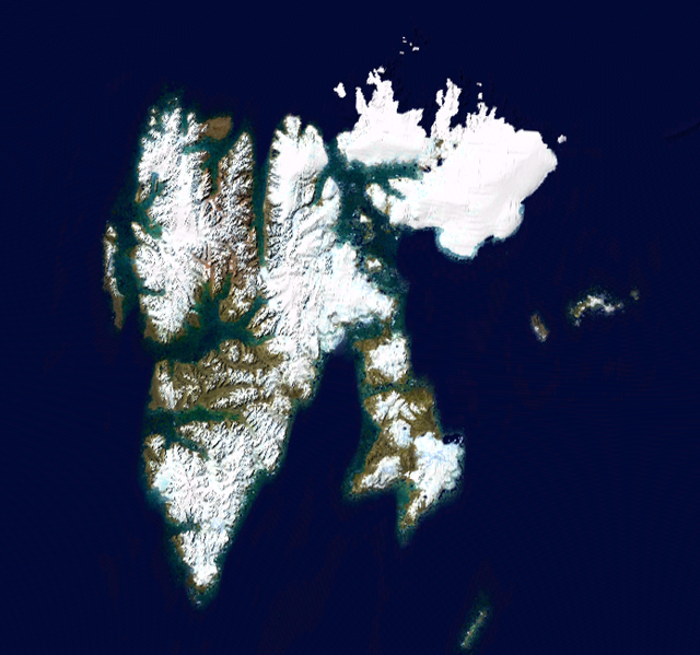 NASA satellite shot of Svalbard