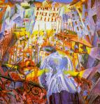 Boccioni's The street invades the house
