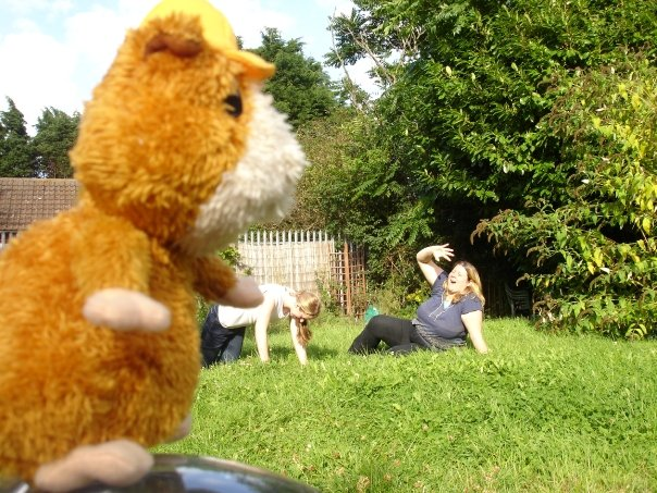 9' Guinea Pig Attacks Joggers