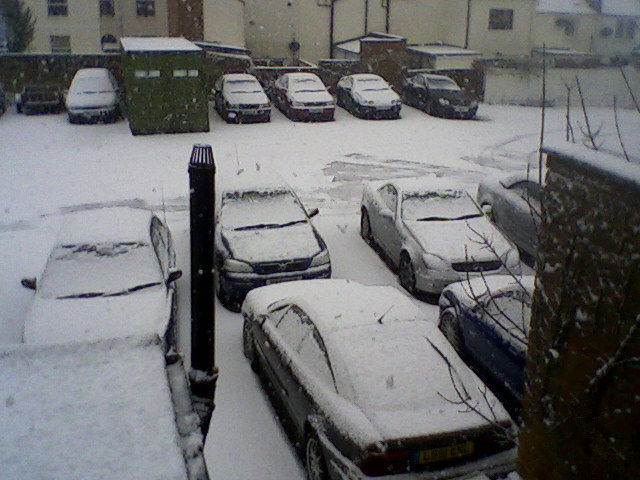 carpark in snow