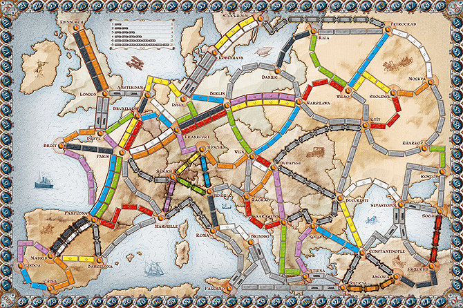 Boardgame Review: Ticket to Ride Europe |