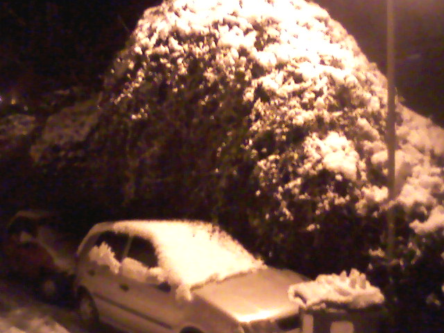 car in the snow