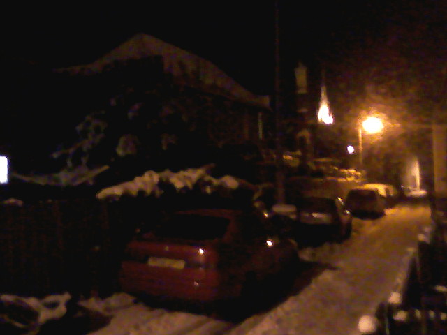 snow in Normal Terrace at night
