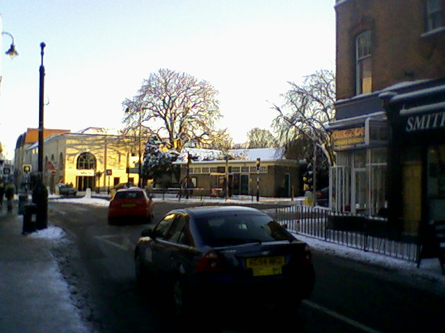 Sunny day in Cheltenham - with snow!