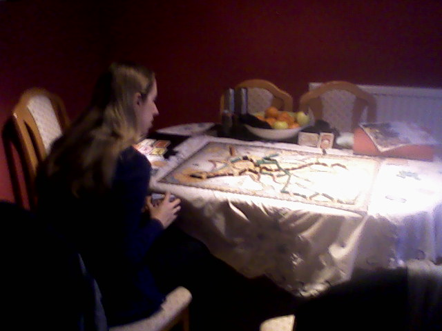 Becky playing Ticket to Ride