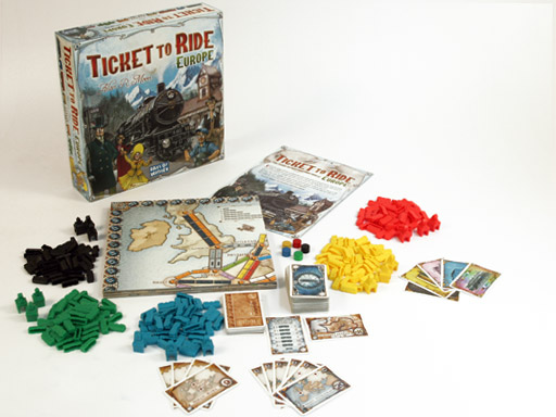 Ticket to Ride Europe: the components