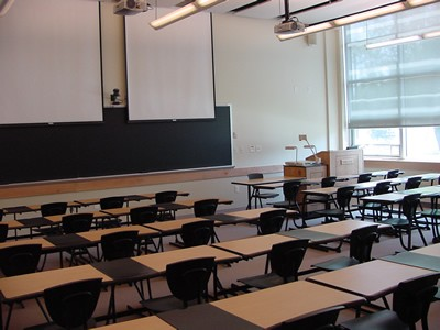 empty classroom photo from Psychology Today