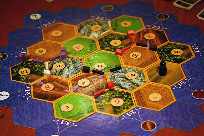 Settlers of Catan in play