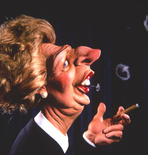 spititng image puppet of MAggie Thatcher