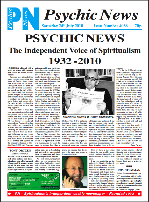 Psychic News final issue