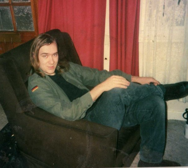 CJ in his attempt to look respectable for work, early' 1990s.