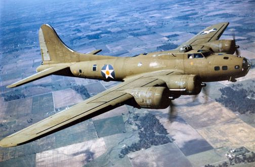 A B17 Flying Fortress: USAF image.