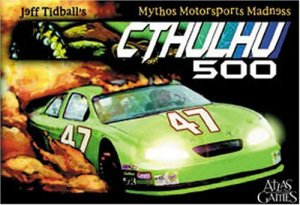 Cthulhu 500 is a fun fast paced card game which uses dice and feels like a boardgame. You need a couple of six sided dice to play